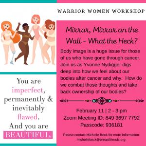 Warrior Women Workshop - Body Image @ Zoom